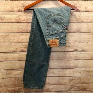 Men's Levi's Light Wash slim straight blue jeans